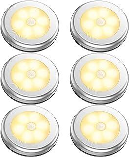 مصباح LED ليلي لاسلكي يعمل ببطارية ويتميز بجهاز استشعار حركة، يثبت على الحائط في مخزن المؤن والخزائن وخزانة الملابس والمطب...
