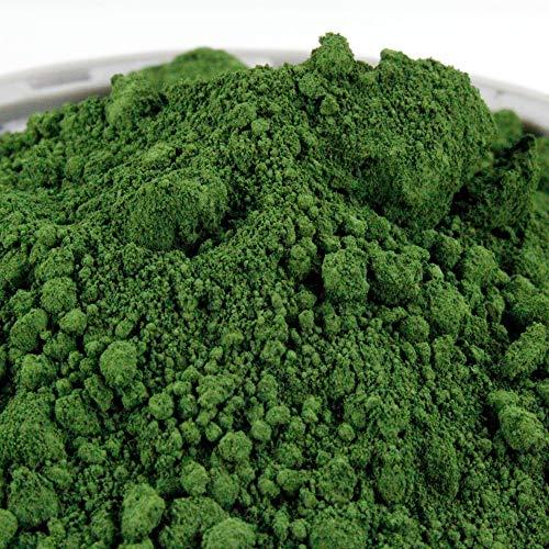 @tec Pigmentpulver, Eisenoxid, Oxidfarbe - 1kg (13,10 Euro/kg) Farbpigmente, Trockenfarbe für Beton, Epoxidharz + Wand - Farbe: grün/green