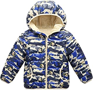 SITENG Baby Boys Girls Winter Coats Hoods Light Puffer Down Jacket Outwear 3-12Years