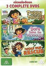 Dora the Explorer Puppy Power! / Dora Saves the Mermaids / Go Diego Go! Wolf Pup Rescue DVD