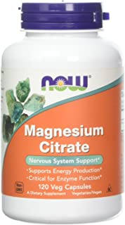 Now Foods Magnesium Citrate caps- 120 Vcaps ( 2-Pack)