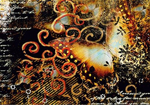 AG Design FTxxl 0182 vlinder, papier fotobehang - 360x255 cm - 4 delen, papier, multicolor, 0,1 x 360 x 255 cm