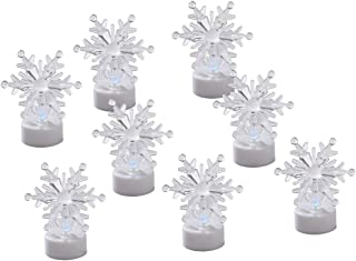 Fox Valley Traders Color-Changing Snowflake Tealights, Set of 8