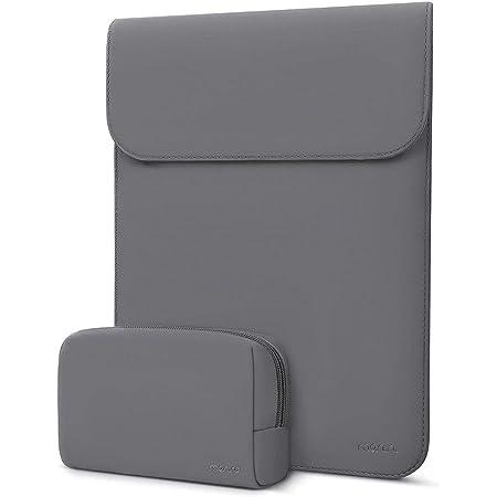 MOSISO Laptop Hülle Kompatibel mit MacBook Air 13 Zoll A2337 M1/A2179/A1932 2020-2018,MacBook Pro 13 Zoll A2338/A2251/A2289/A2159/A1989/A1706/A1708,Kunstleder Ledertasche mit Klein Tasche,Space Grau