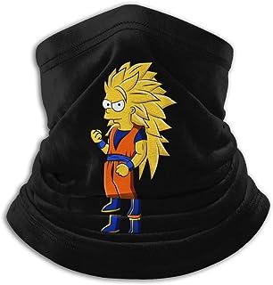 DamaYong The-Simpsons-Bart Simpson Microfiber Neck Warmer Scarf Soft Elastic Men Women Fleece Face Bandana Cover for Skiing Winter Sports