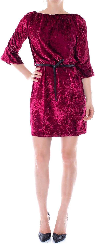 Akè Women's F558YAI407BORDEAUX Burgundy Polyester Dress