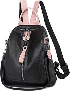 Women Backpack Purse Satchel Handbag Shoulder Bag, PU Leather Rucksack, Fashion Casual Bag, Large Capacity and Lightweight, for Travel Shopping Work,1