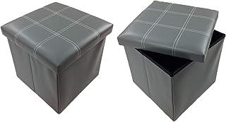 Tabouret Tabouret Original Gmmh 38 X 38 X 38 Cm Boîte Boîte De Conservation Cube pour S'Asseoir Coffre Repose-Pieds Banc P...