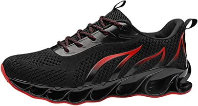Mitsutomi Men's Running Shoes Lightweight Shockproof Slip Athletic Sneakers Couples Mesh Sports Shoes