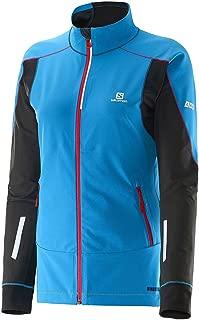 Salomom Women's S-Lab Motion Fit WS Jacket, Methyl Blue/Methyl Blue/Black, Medium