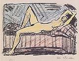 Das Museum Outlet–Otto Mueller–Liegende auf der Couch–1919, gespannte Leinwand Galerie verpackt. 29,7x 41,9cm