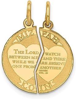 Beautiful Yellow gold 14K 14K Mizpah Charm