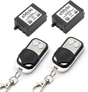 Emylo - Interruptor de control remoto transmisor con receptor, CA 220V-230V-240V, 1000W, 2x 1,canal Smart RF, Relé inalámbrico