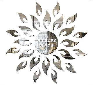 Atulya Arts OFFERING Sun Wall Sticker (Pack of 25)(1.5ft Size) 3D Acrylic Sticker, 3D Acrylic Stickers for Wall, 3D Mirror...