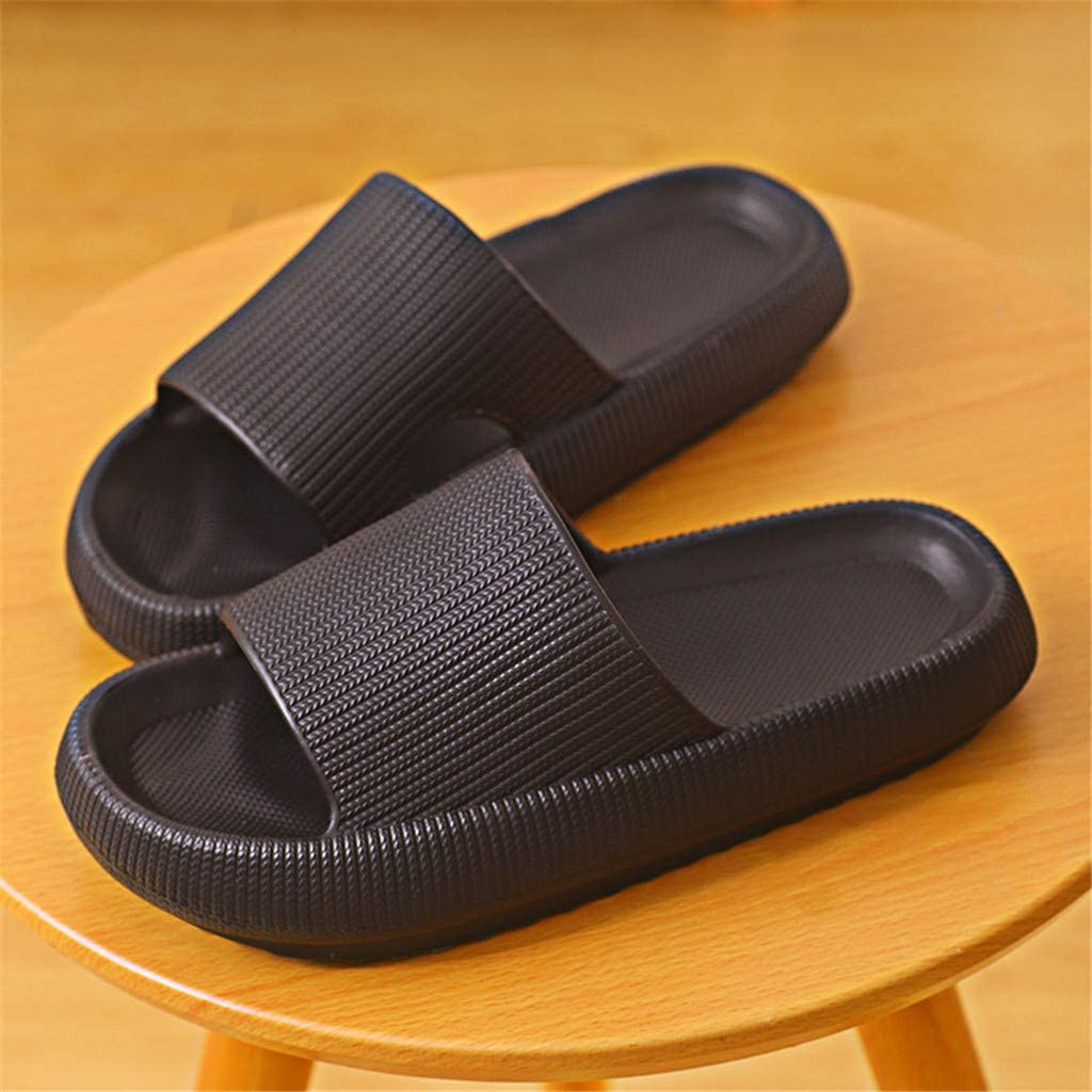 OrchidAmor Slide Sandals for Women Men,Soft Thick Sole Non-Slip House Slippers,Casual Home Bathroom Pillow Slides,Open Toe House Slippers,Lightweight Slippers,Beach Soled Shoes,Pool Slides