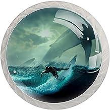 Lade handgrepen trekken ronde kristallen glazen kast knoppen keuken kast handvat,Man rijden Surfboard