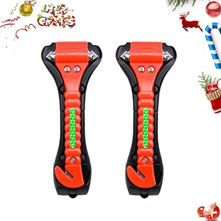 Car Safety Hammer, Emergency Escape Tool with Car Window Breaker and Seat Belt Cutter TONWON, ABS Carbon Steel Escape Hammer (LV835)