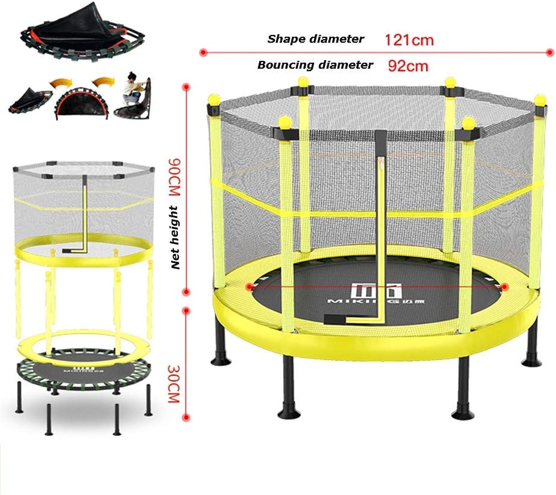 JIAYUAN Trampoline Trampolin mit Sicherheitsverkleidung - Innen- oder Auentrampolin für Kinder - Gelb Blau - 6 Füe