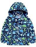 Echinodon Jungen Gefütterte Outdoorjacke Wanderjacke wasserabweisend Winddicht Kinder Jacke Regenjacke Übergangsjacke Blau 98-104*