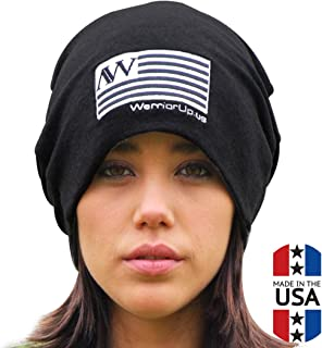 American Warrior Unisex Beanie with Embroidered AW Emblem and Flag 2574e70f44b6