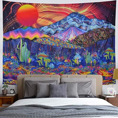 CARPET-STORE Mandala Tapiz de Pared Patrón psicodélico Yoga Lanzamiento de Playa Alfombra Hippie Decoración del hogar Mandala Manta de Tapiz