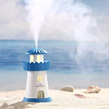 Lighthouse Shaped Humidifiers air Diffuser Humidifier with Led Night Light Colorful Change for Car, Office, Babies, humidifiers for room, car humidifier