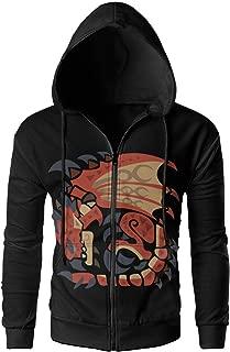 MASDUIH Rathalos Men's Full-Zip Hoodie Sweatshirt Travel Jackets Casual Outwear