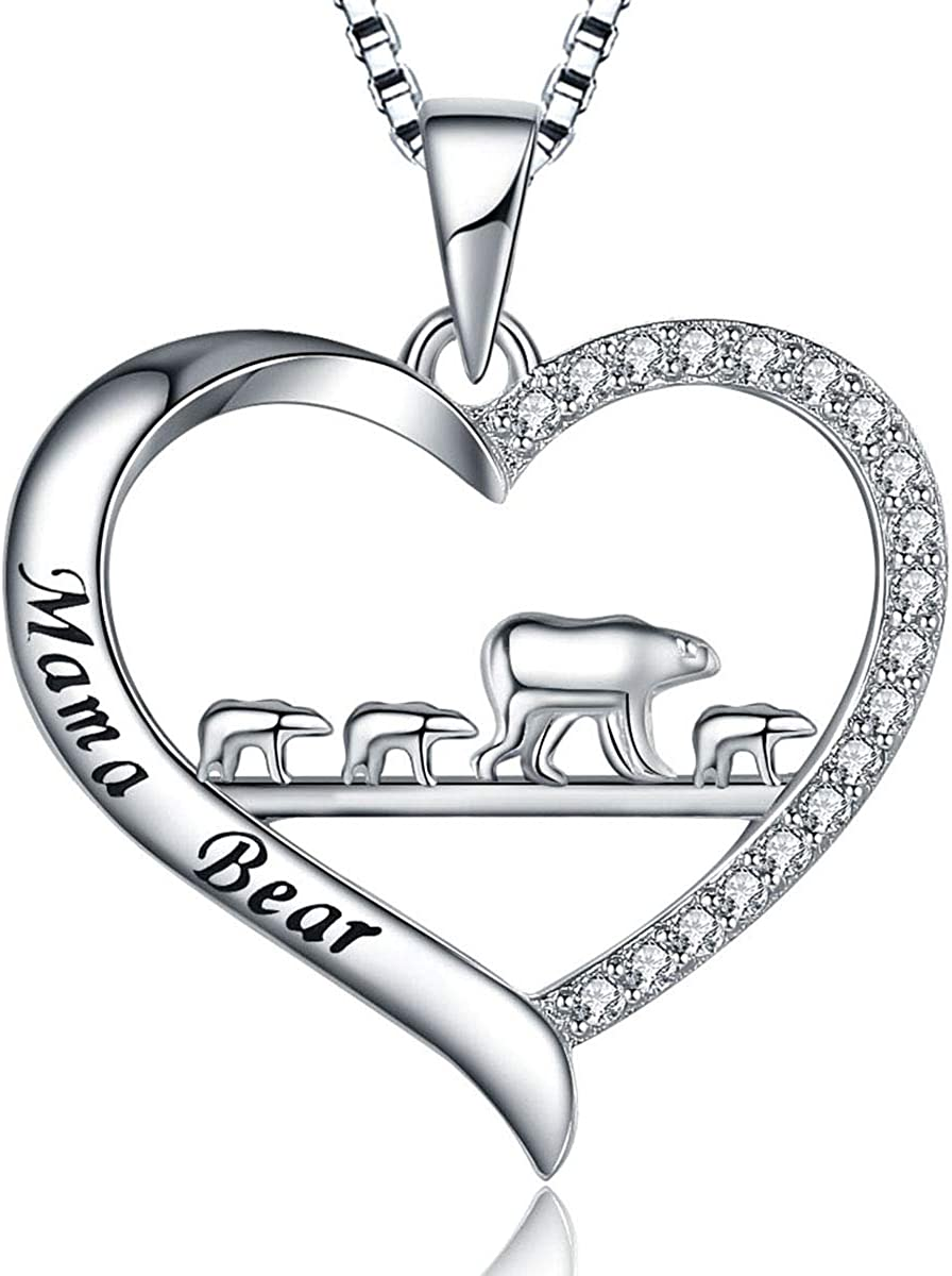 MUATOGIML Mothers Day Quality inspection Gift 925 Silver Love Sterling Max 61% OFF Necklace Mom