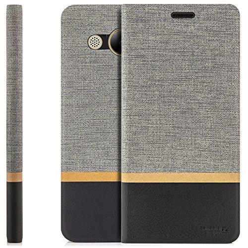 Zanasta Designs Custodia Huawei Y3 (2017) Cover Flip Wallet Case Copertura con Portafoglio Alta qualità Grigio