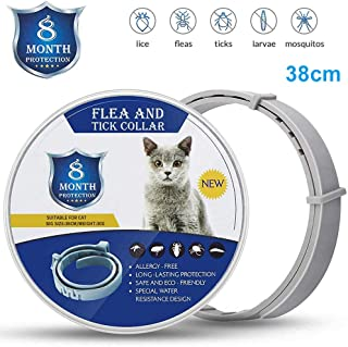 ILamourCar Animal Protection Collar for Dogs, One Size Fits All - Waterproof 8 Month Best Protection and Adjustable - Gray