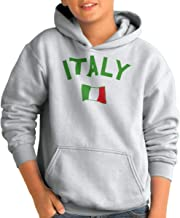 Brisco Brands Italy Country Flag Soccer Fan Italian Pride Youth Hoodie