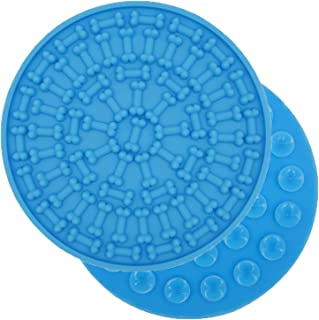 AK KYC Bath Lickimat for Dogs   Dog Washing Distraction Device   Silicone Dog Lick Pad for Pet Bathing Grooming   Super Suction, Just Add Peanut Butter