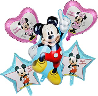 """Bsstr 5PCS Mickey Mouse balloons Party Supplies 33"""" Foil Balloons for Kids Baby Shower Birthday Party Decorations"""