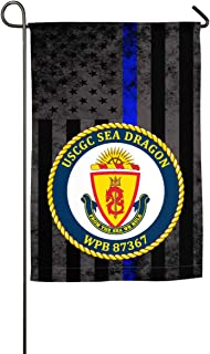 LEILEIflag USCGC Sea Dragon WPB 87367 with Thin Blue Line Flag Home Flag Outdoor Flag Garden Flag