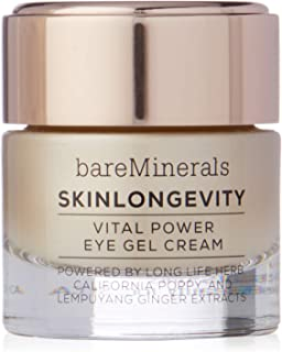 bareMinerals Skinlongevity Vital Power Eye Gel Cream for Women - 0.5 oz Cream, 15 ml