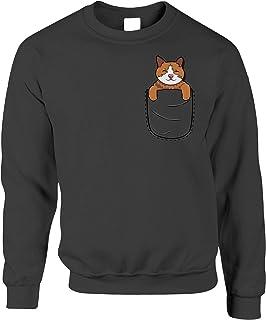 Funny Cute Cat Jumper Kitten in Pocket Sweatshirt Sweater