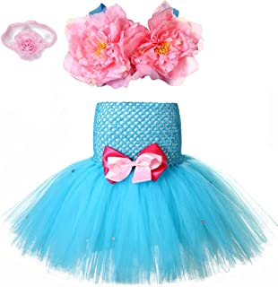 2pcs Mermaid Princess Tutu Outfit for Girls 1-8Y Birthday Party