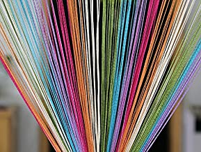 Pindia Decorative Multicolored String Thread Room Door Curtain-Multicolor : 7ft x 3.6ft