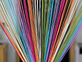 Color: Multicolour, Size Name: Door - 7ft x 3.6ft (210cm X 110cm) Material: Polyester Package Contents: 1 String Hanging Curtain Size: 84 inch x 48 inch or 213 cm x 122 cm