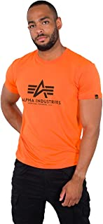 ALPHA INDUSTRIES Basic T-Shirt Tricot, Fluo/Orange, XX-Small Homme