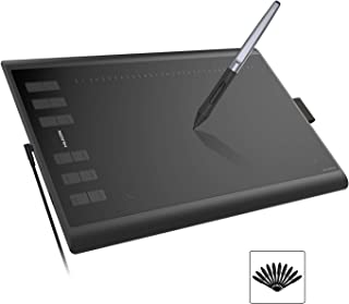 Huion H1060P Graphics Drawing Tablet 8192 Pen Pressure Tilt Function Battery-Free Stylus for Android Devices Windows Mac