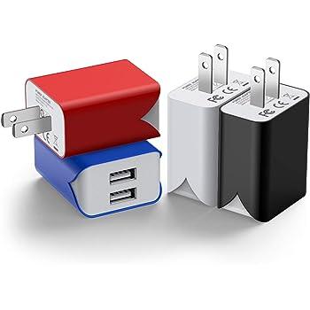 USB 充電器 【4個セット】 usb コンセント PSE認証 2USBポート 軽量 コンパクト スマホ充電器 iPhone iPad Samsung Galaxy Xperiaなと対応