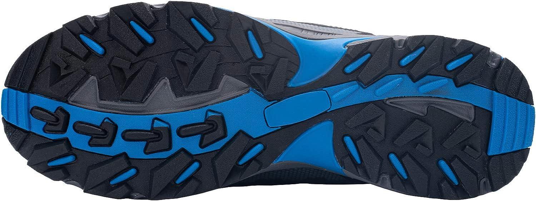 LARNMERN Chaussures de Travail pour Homme,LM-1702 Antidérapante Embout Acier Semelle Anti-Perforation Acier Chaussures de Sécurité Lm202 Bleu