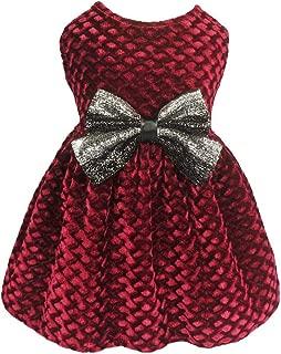 Best red velvet dog dress Reviews