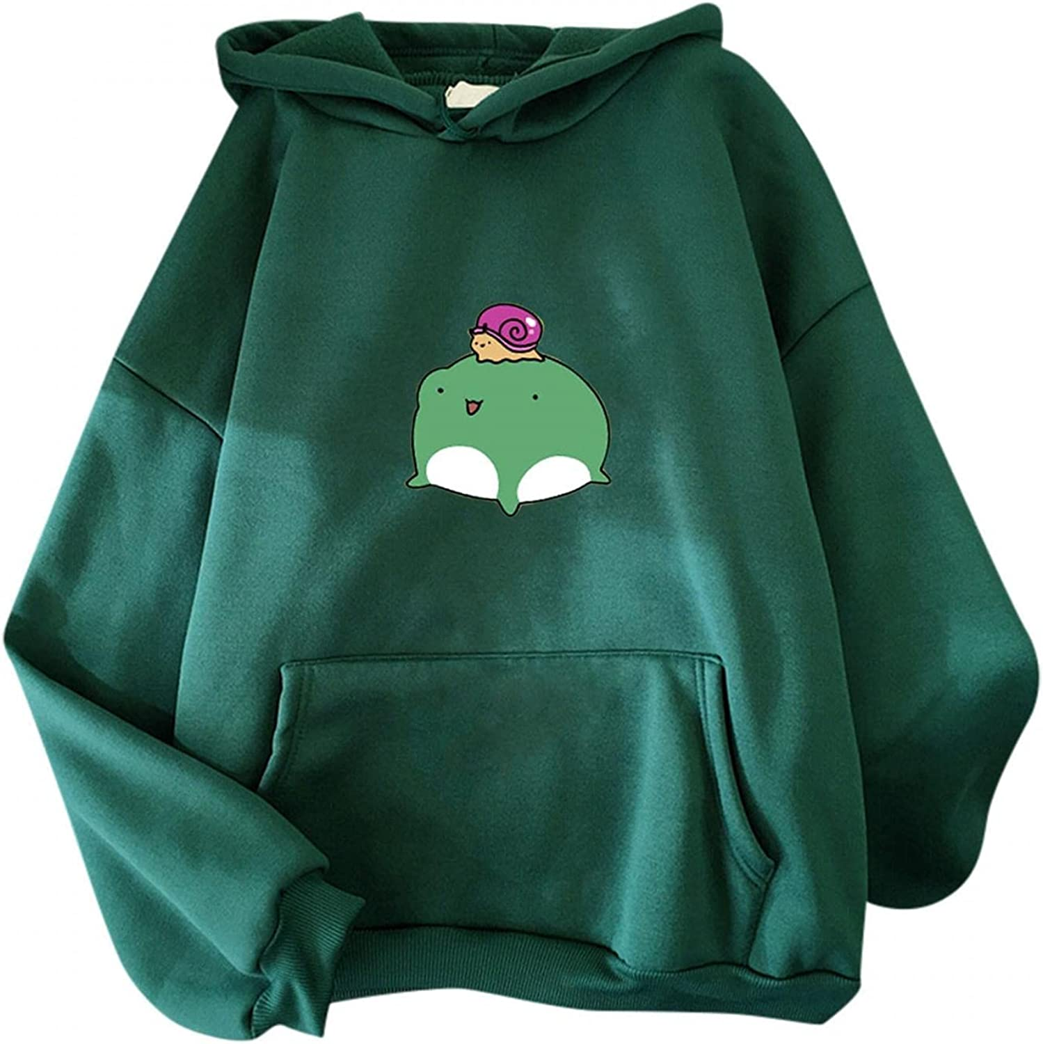 Cute Hoodies for Teen Girls Aesthetic New color Frog Trendy Print Very popular Co Solid