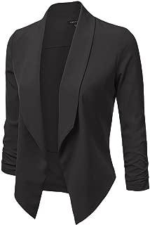 Women's Lightweight Open Front Draped Tuxedo Blazer Jacket
