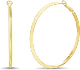 Steve Madden Knife Edge Hoop Earrings for Women