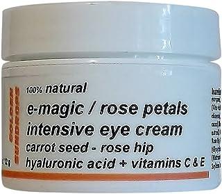 Golden Sundrops E-Magic / Rose Petals Eye Cream (1.5oz / 42g) 100% Natural Carrot Seed Rose Hip Hyaluronic Acid Vitamin C ...