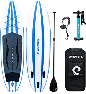 ISUP Inflatable Stand Up Paddle Board Includes Adjustable Paddle Travel Backpack Coil Leash for Youth and Adult