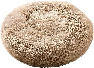 GorNorriss Pet Supplies, Calming Shag Vegan Fur Donut Cuddler, Dog Round Cat Winter Warm Sleeping Bag Long Plush Soft Pet Bed Calming Bed